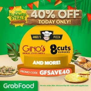 GrabFood - April 19 Summer Steals Bahaycation Promo: Get Up to 40% Off