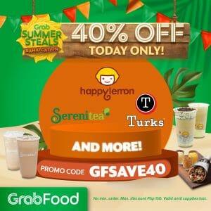 GrabFood - April 20 Summer Steals Bahaycation Promo: Get 40% Off