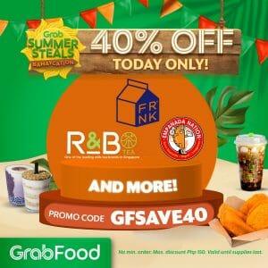 GrabFood - April 22 Summer Steals Bahaycation Promo: Get 40% Off