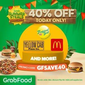 GrabFood - April 24 Summer Steals Bahaycation Promo: Get 40% Off