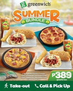 Greenwich Pizza - Summer Bundle for ₱389