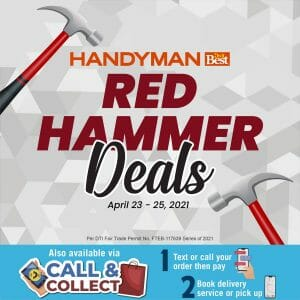 Handyman - Red Hammer Deals: Get Up to 40% Off on Select Home and Hardware Items