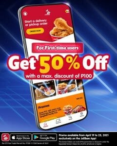 Jollibee - First Time Users Get 50% Off via App Orders