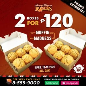 Kenny Rogers Roasters - Get 2 Muffin Boxes for ₱120
