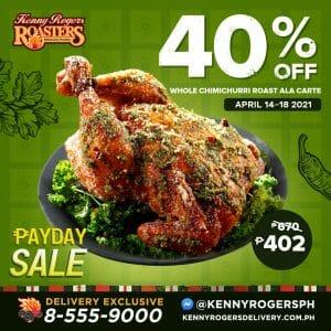 Kenny Rogers Roasters - Whole Chimichurri Roast at 40% Off