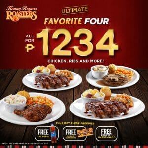 Kenny Rogers Roasters - Ultimate Favorite Four Bundle for ₱1,234