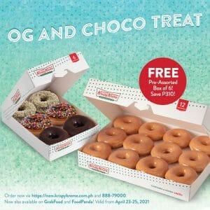 Krispy Kreme - OG and Choco Treat: Get FREE Pre-Assorted Box of 6