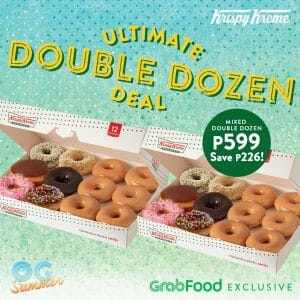 Krispy Kreme - Ultimate Dozen Deal for ₱599 (Save ₱226) via GrabFood