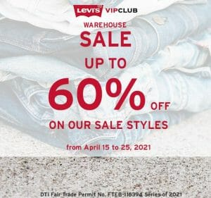 Levi's - Warehouse Sale: Get Up to 60% Off on Sale Styles