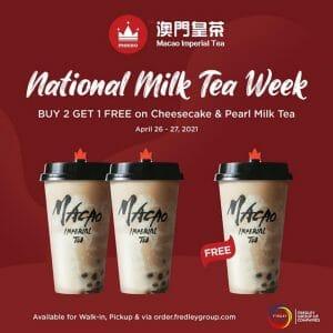 Macao Imperial Tea - National Milk Tea Week: Buy 2 Get 1 Cheesecake and Pearl Milk Tea