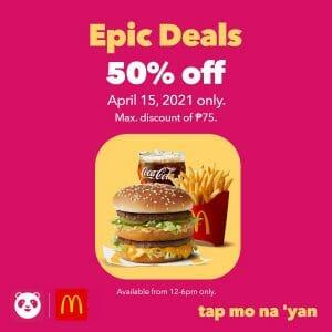 McDonald's - Epic Deals: Get 50% Off on Orders via Foodpanda