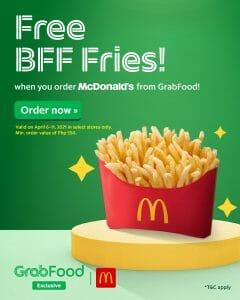 McDonald's - Get FREE BFF Fries for Orders via GrabFood
