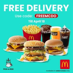 McDonald's - Get FREE Delivery on Orders via Pick-A-Roo