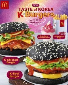 McDonald's New Taste of Korea K-Burgers