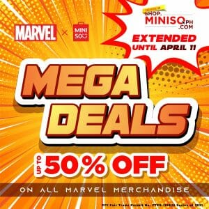 Miniso - Mega Deals Extended: Get Up to 50% Off Marvel Merchandise