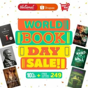 National Book Store - World Books Day Sale: Get 10% Off + FREE Shipping via Shopee
