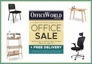 Office World by BLIMS - Office Sale: Get Discounts on Selected Furniture + FREE Delivery