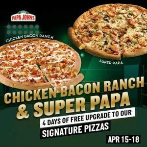 Papa John's Pizza - Get FREE Upgrade to Signature Pizza