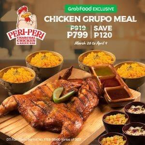 Peri-Peri Charcoal Chicken - Chicken Grupo Meal for ₱799 via GrabFood