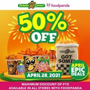 Potato Corner - April 28 Epic Deal: Get 50% Off via Foodpanda