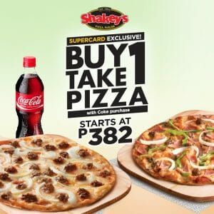 Shakey's - SuperCard Exclusive: Buy 1 Take 1 Pizza for Every Coke Purchase