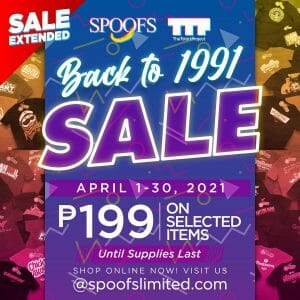 The Tshirt Project - Back to 1991 Sale Extended: ₱199 on Selected Items