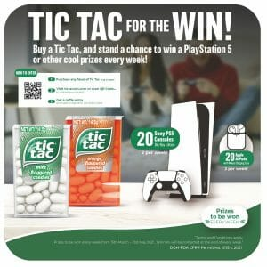 Tic Tac For The Win Contest - Stand a Chance to Win a Sony Playstation 5 or Apple AirPods
