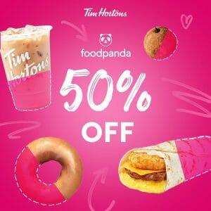 Tim Hortons - Get 50% Off via Foodpanda