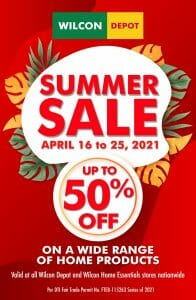 Wilcon Depot - Summer Sale: Get Up to 50% Off
