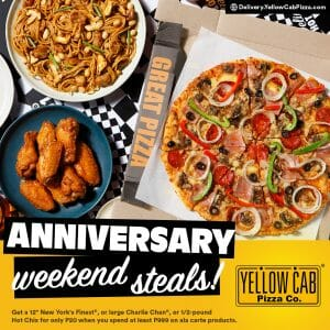 Yellow Cab Pizza - Anniversary Weekend Specials