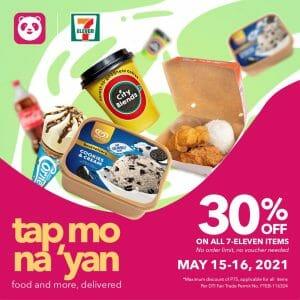 7-Eleven - Get 30% Off on All Items via Foodpanda