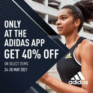 Adidas - Get 40% Off on Select Items via the Adidas App