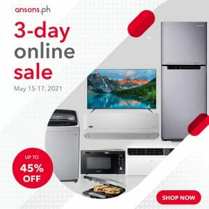 Anson's - May 3-Day Online Sale: Get Up to 45% Off