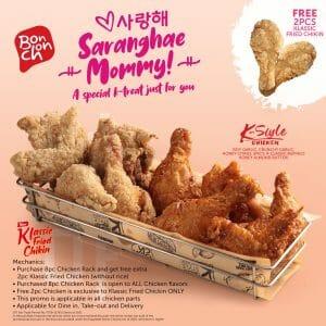 Bonchon Chicken - Mother's Day: Get FREE 2 Pcs. Klassic Fried Chikin