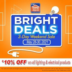 CW Home Depot - Bright Deals: Get 10% Off Lighting and Electrical Products