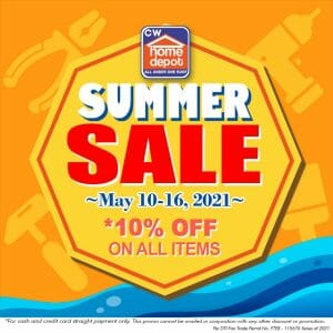 CW Home Depot - Summer Sale: Get 10% Off on All Items