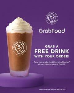 Coffee Bean and Tea Leaf (CBTL) - Get a FREE Drink on Orders via GrabFood