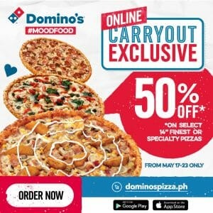 Domino's Pizza - Online Carry Out Exclusive: Get 50% Off on Select Finest or Specialty Pizzas