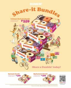 Dunkin Donuts - Share-It Bundles for As Low As P299