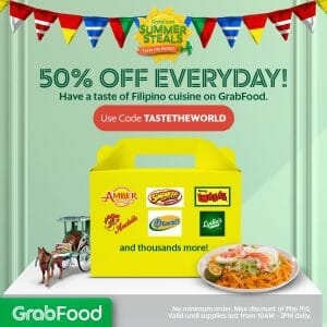 GrabFood - Get 50% Off on Filipino Food Orders