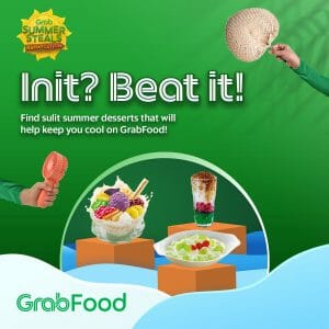 GrabFood - May 3 Summer Steals Bahaycation: FREE Delivery on Pinoy Dessert Orders