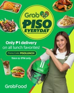 GrabFood - Get P1 Delivery on Lunch Orders