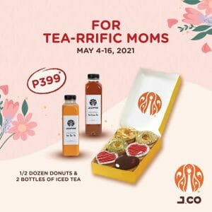 J.CO Donuts and Coffee - Mother's Day Special Donut and Drink bundle for ₱399