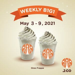 J.CO Donuts and Coffee - Weekly Buy 1 Get 1 Coffee Drinks