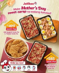Jollibee - Mother's Day Promo: Jolly Spaghetti Bundle As Low As ₱499