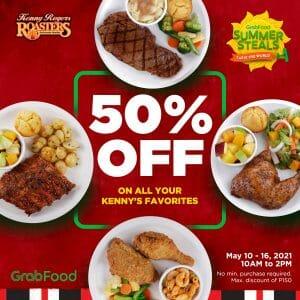 Kenny Rogers Roasters - Get 50% Off on Orders via GrabFood
