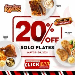 Kenny Rogers Roasters - Get 20% Off on Solo Plates