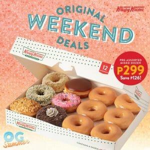 Krispy Kreme - May Original Weekend Deals for P299 (Save P126)