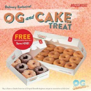 Krispy Kreme - OG and Cake Treat: Get FREE Pre-Assorted Box of 6