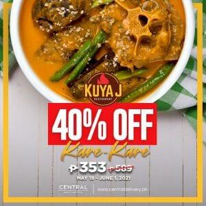 Kuya J Restaurant - Get Kare-Kare for P353 (Was P589) via Central Delivery